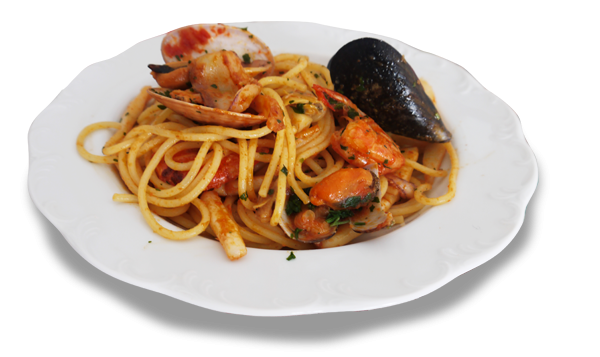Spaghetti del pescatore - Pasta Maltagliati